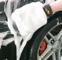 car wash by hand with care at lux detail